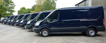 98 Crew Vans being built for utility company