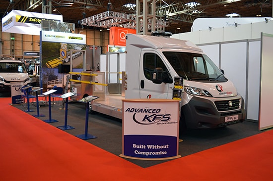 Vehicles at Traffex 2017