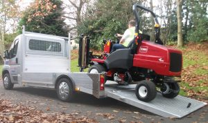 Transporting a lawn tractor